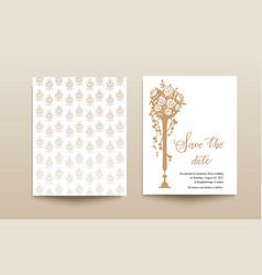 wedding template card vector image