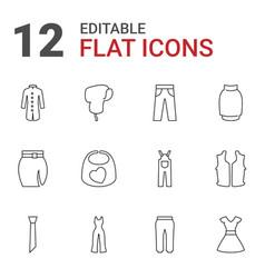 12 apparel icons vector