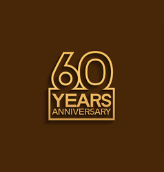 60 years anniversary design line style vector