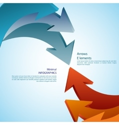 Abstract arrows Detailed vector image