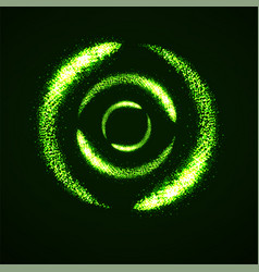 abstract shine dust glowing circles vector image