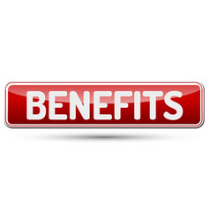 benefits - abstract beautiful button with text vector image