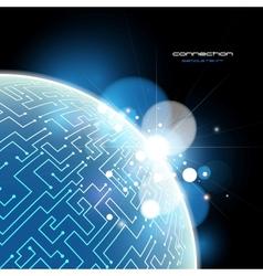 Blue Earth connection concept vector