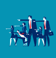 business team leadership concept business vector image