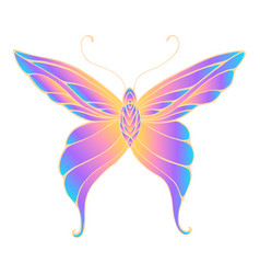 butterfly with patterned wings bright gradient vector image
