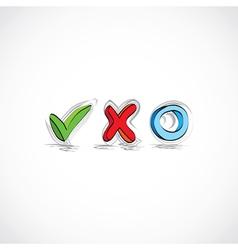 Checklist Approval Symbols vector image