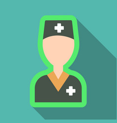 cheerful male doctor of a doctor with medical vector image