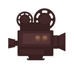 Cinema movie or film camera flat icon vector
