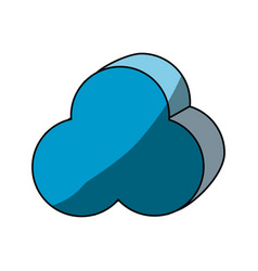 cloud computing 3d vector image