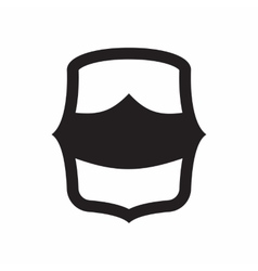 Combat shield for war icon simple style vector