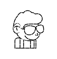 Cool guy cartoon vector