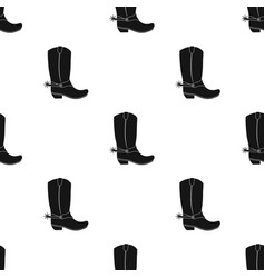 cowboy boots icon in black style isolated on white vector image