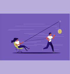 Creative concept boss use worker vector