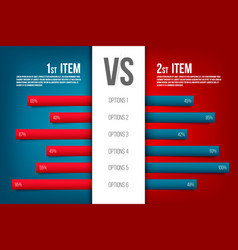 creative of service comparison vector image
