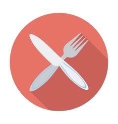 Cutlery single flat icon vector image