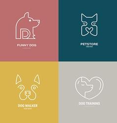 Dog Linear Labels vector image