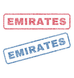 Emirates textile stamps vector