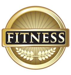 Fitness Gold Emblem vector