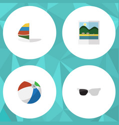 flat icon summer set of surfing reminders sphere vector image
