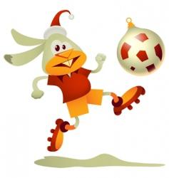 football rabbit vector image