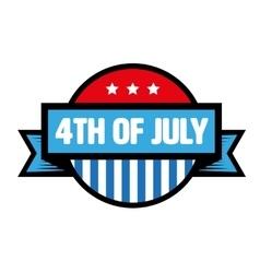 fourth july vintage stamp vector image