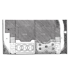 front entrance plan a semi-detached vector image