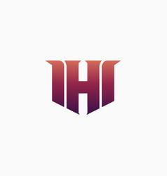 h gaming esport logo design template inspiration vector image