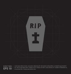 Halloween grave pictogram icon vector