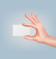 Hand keeping card vector