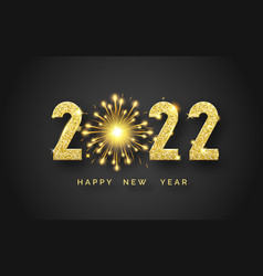 happy new year 2022 background with shining vector image