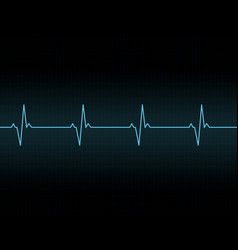 heartbeat line background icon vector image