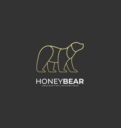 Honey bear template vector