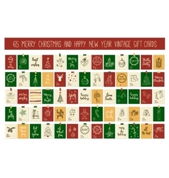 Huge collection Merry Christmas and Happy New Year vector