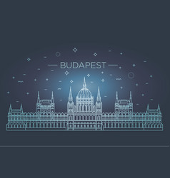 hungarian travel landmark of historical building vector image