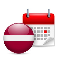 Icon of national day in latvia vector