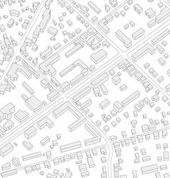 Imaginary city plan Isometric City background vector