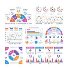 infographic template dashboard bar finance vector image