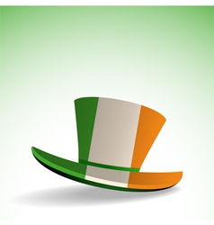 Irish hat on white and green background vector image