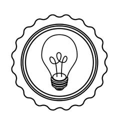 Isolated bulb light vector