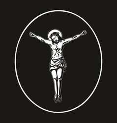 jesus crucified vector image