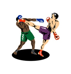 Kickboxer Side Kick vector image