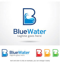 Letter b water logo template vector