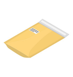 letter packet icon isometric style vector image