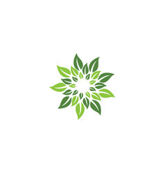 logos of green leaf ecology nature element icon vector image