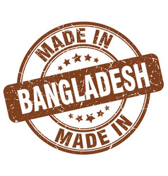 Made in bangladesh brown grunge round stamp vector