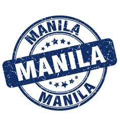 Manila blue grunge round vintage rubber stamp vector
