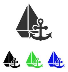 Marine flat icon vector