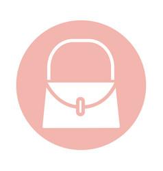 Mothers day handbag accessory fashion block style vector