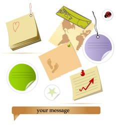 note collection vector image