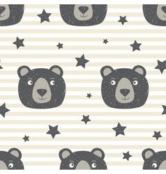 Pattern with Teddy Bear vector image